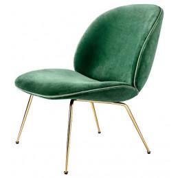 Krzesło do salonu Beetle, mosiężne nogi, Gubi