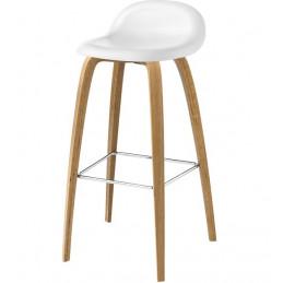 Krzesło barowe 3D drewniane nogi Gubi