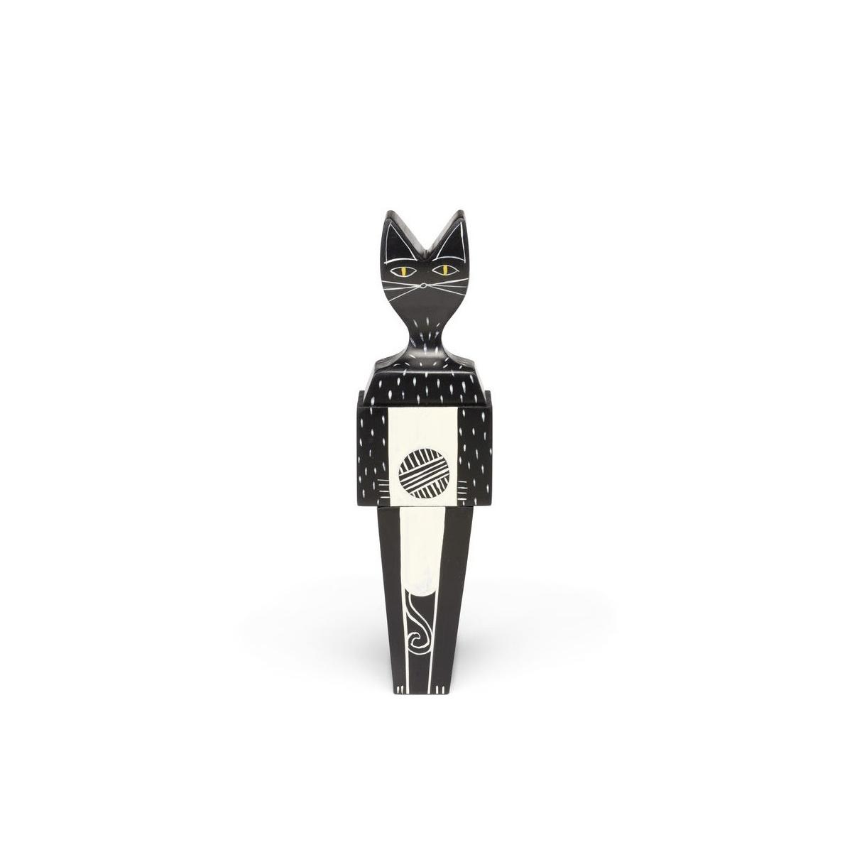Ręcznie malowana figurka Wooden Doll Cat Vitra
