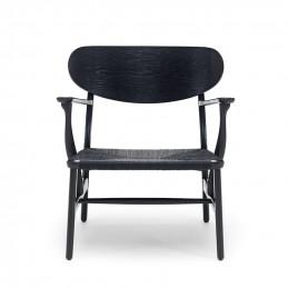Krzesło CH22 Carl Hansen & Søn, czarne siedzisko