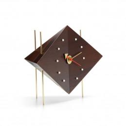 Drewniany zegar biurkowy Diamond George Nelson Vitra