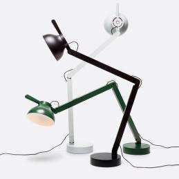 Regulowana PC DOUBLE ARM W. TABLE BASE HAY lampa biurkowa