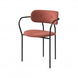 Tapicerowane krzesło Coco z podłokietnikami od Gubi