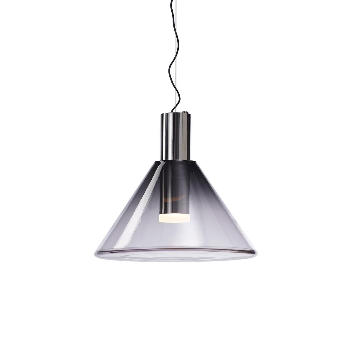 Geometryczna lampa wisząca Phenomena 01 ze srebrnym wykończeniem - Bomma