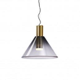 Złota lampa wisząca Phenomena Bomma