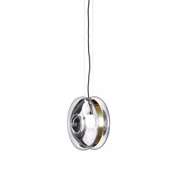 Transparentna lampa wisząca Orbital Polished Brass Bomma