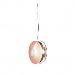 Różowa lampa wisząca Orbital Polished Brass Bomma