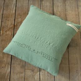 Lniana poszewka na poduszkę TAN 40x40 Len print w kolorze zielonym marki własnej Take A NAP