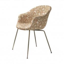 Komfortowe krzesło tapicerowane BAT Gubi