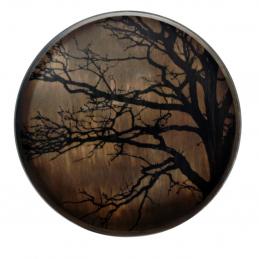 Taca dekoracyjna Black Tree Large/Round Ethnicraft