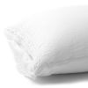 Komplet pościeli o dwustronnej fakturze z naturalnych materiałów Sintra Take A NAP w kolorze white