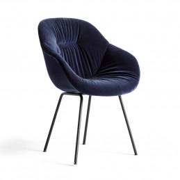 Tapicerowane granatową tkaniną krzesło AAC 127 Soft HAY