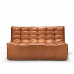 Skórzana sofa dwuosobowa N701 Old Saddle Ethnicraft