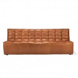 Skórzana sofa trzyosobowa N701 Old Saddle Ethnicraft