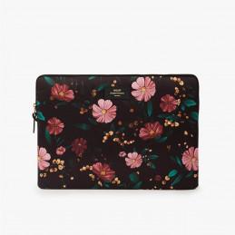 Bezpieczny pokrowiec laptopa Black Flowers 15 Wouf