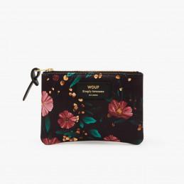 Mała i poręczna saszetka Black Flowers Small Pouch marki Wouf