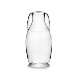 Minimalistyczny zestaw karafka ze szklanką WD Serax