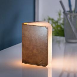 Wykonana z papieru i skóry lampa Mini Smart Book Brown Gingko Electronics