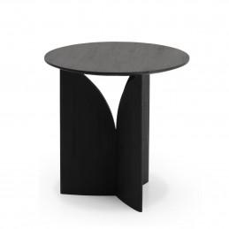 Geometryczny stolik Fin Teak black Ethnicraft