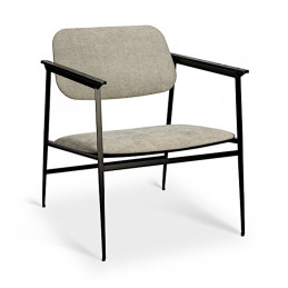 Ponadczasowy fotel DC light grey marki Ethnicraft