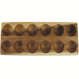 Drewniany pojemnik na 12 jaj Acacia Be Home