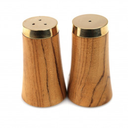 Drewniana solniczka i pieprzniczka Gold & Wood Be Home