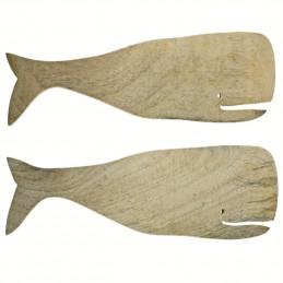 Zestaw do sałatek Natural Mango Wood Whale Be Home