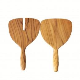 Drewniany zestaw do mieszania sałatek Teak Wide Be Home