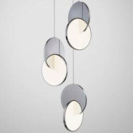 Chromowany żyrandol Eclipse Lee Broom