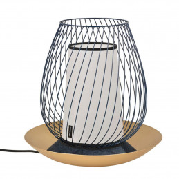 Designerska lampa stołowa Oasis Murano Blanc Market Set