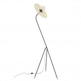 Mosiężna lampa podłogowa Waterlily Market Set