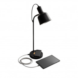 Lampa biurkowa Add On z portami USB i wifi od Jensen