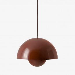 Lampa wisząca Flowerpot VP2 w kolorze red brown - &Tradition