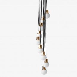 Mosiężna lampa wisząca Mass Light NA6 &Tradition