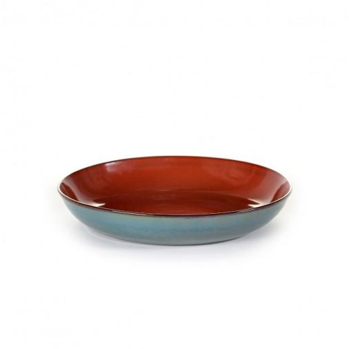 Pasta Plate Rusty/Smokey Blue