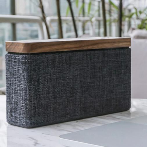 Bezprzewodowy głośnik przenośny HIFI Square Bluetooth Speaker - Walnut Gingko