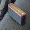 Idealny na prezent - drewniany głośnik przenośny HIFI Square Bluetooth Speaker - Walnut Gingko