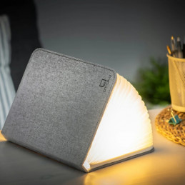 Lampa stołowa Mini Smart Book Light Grey Fabric na diody LED-  Gingko