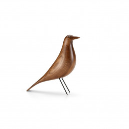 Eames House Bird Solid Walnut Clear