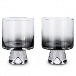 Ręcznie robiony zestaw kieliszków Tank Low Ball Glasses x2 Black Tom Dixon