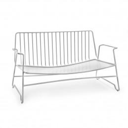 Biała sofa Fish&Fish 131x71 H72,5 Steel Serax