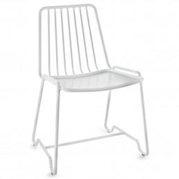 Aluminiowe krzesło do jadalni Fish&Fish 55x48 H78 Alu Serax
