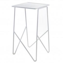 Wyższy aluminiowy stolik Fish&Fish Medium 30X30 H55 ALU Serax