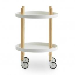 Funkcjonalny stolik na kółkach Block Ø45 cm Normann Copenhagen
