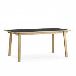 Praktyczny stół Slice Linoleum Nero 84x160 Normann Copenhagen