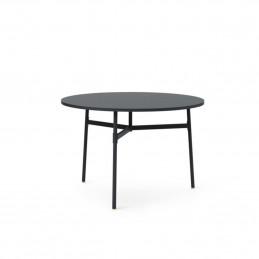 Czarny stół Union Ø110 Normann Copenhagen
