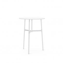 Biały stół Union Ø80 x H105,5 Normann Copenhagen