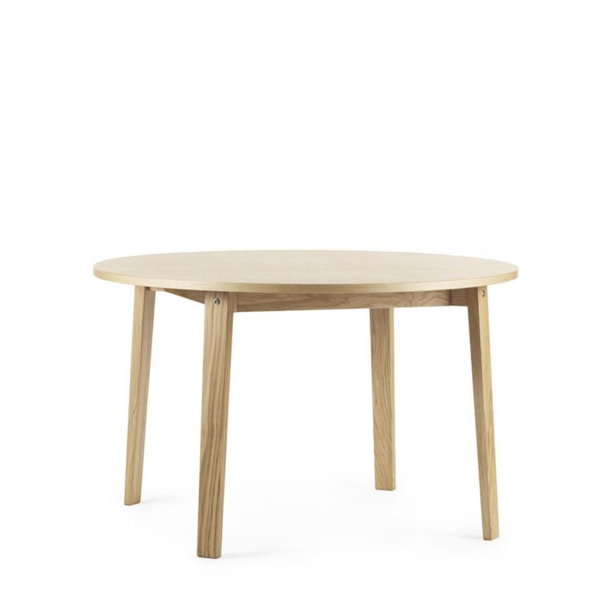 Dębowy stół Slice Vol.2 Ø120 Oak Normann Copenhagen