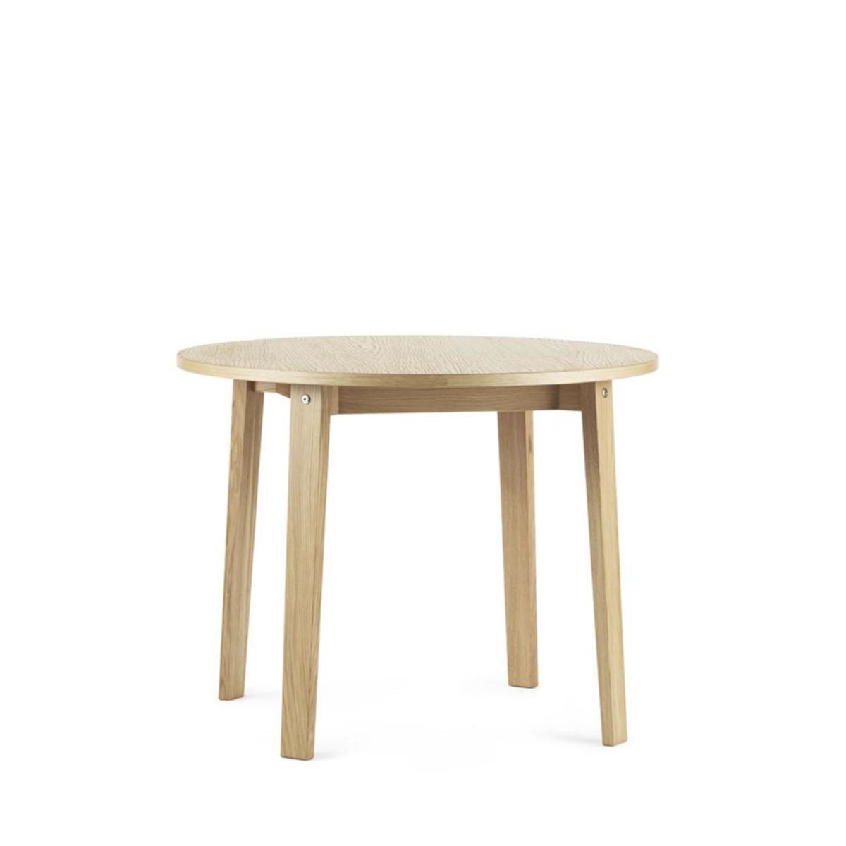 Ponadczasowy dębowy stół Slice Vol.2 Ø95 Oak Normann Copenhagen