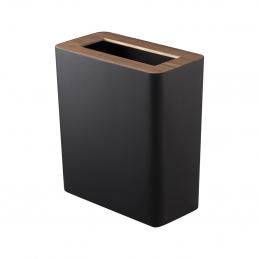 Stalowy kosz na śmieci RIN TRASH CAN SQUARE Black Yamazaki